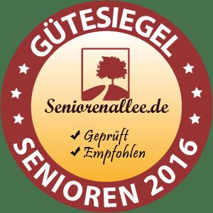 Seniorenallee Gütesiegel 2016